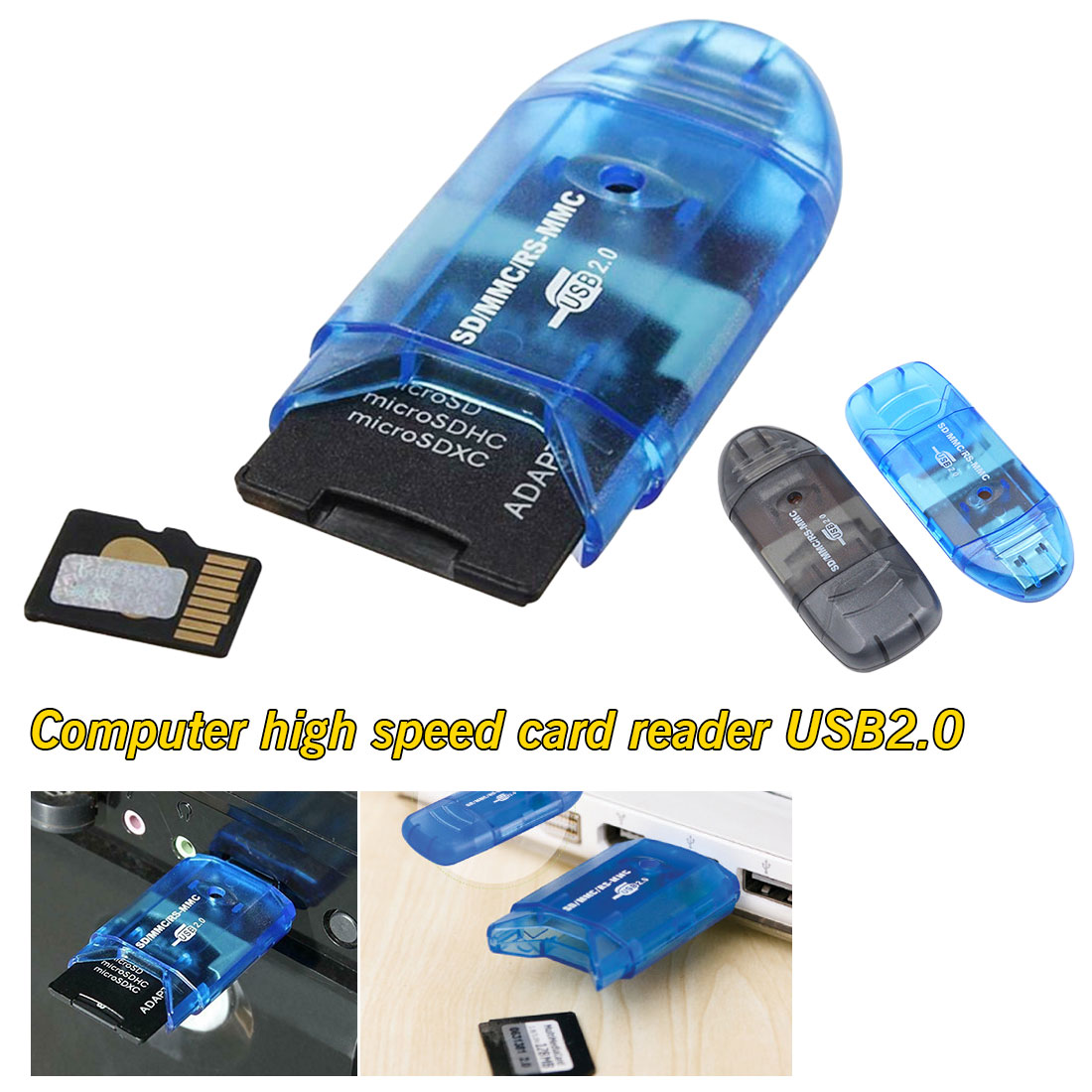 Storage Card Reader For All In 1 USB 2.0 Multi Memory Adapter Connector For Micro SD MMC SDHC TF M2 Memory Stick