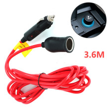 3.6M 12V 24V Cigarette Lighter Socket Charging Extension Cable Car Plug Accessory 12FT Extended Cord