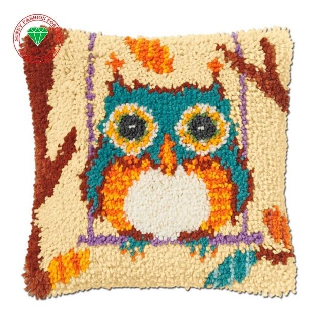 Cartoon Bird Karpet Craft Latch Hook Rug Kits Cushion Diy Pillowcase Cross Sch Carpet