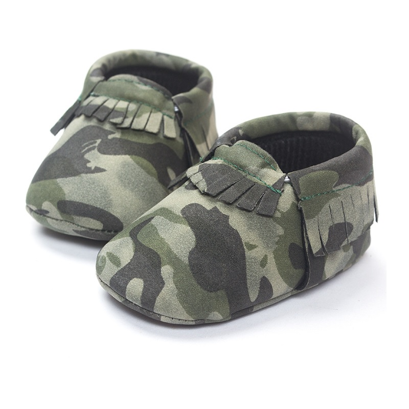 Camouflage Baby Boy Shoe Newborn First Walkers 0 1 2 years Camo Infant Moccasin Shoes Children Sport Shoe Soft Room Socks