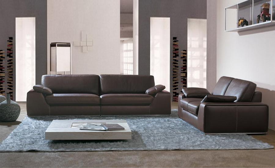 Large Size American Design Classic Genuine Leather Sectional Sofa Set 1 2 3