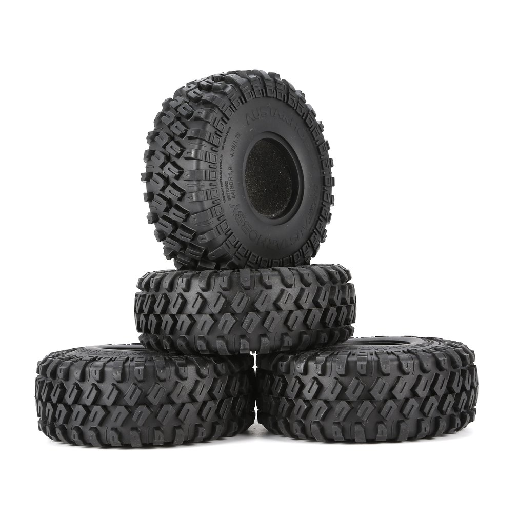 AUSTARHOBBY AX-7020 4Pcs 1.9 Inch 122mm 1/10 Rock Crawler Rubber Tires For D90 TRX4 SCX10 AXIAL TF2 RC Car Accessories