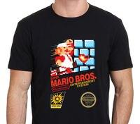 T Shirt Cheap Sale 100 Cotton Gildan Super Mario Brothers Retro Nes Game Men S Casual