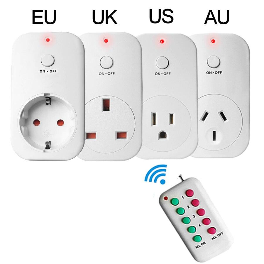 imágenes para Inteligente Socket RF433 Inalámbrico de Control Remoto Enchufe de LA UE EE. UU. REINO UNIDO AU del Zócalo de Pared de Casa Inteligente Toma De Corriente Eléctrica de Alta Quanlity