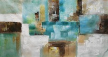 HandPainted Wall Art Oil Painting on Canvas Modern Abstract Picture for Living Room Decoration