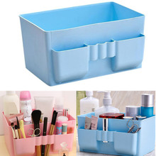 Creative Clear Plastic Home Office Desktop Storage Boxes Large-capacity Toiletry Sundry Jewelry Organizer Case Makeup Tool Kit