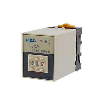 AC 220V Power ON Delay Timer Time Relay 0.1s-99h 0.1 Second - 99 Hour w Base стоимость