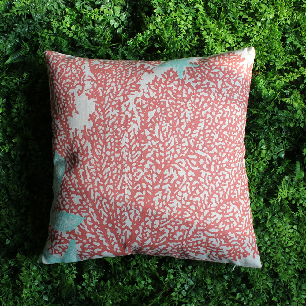 Red coral painting popular red coral print buy cheap red coral print - Vezo Home Printed Red Coral Cotton Linen Sofa Cushion Cover Throw Pillow Cover Home Decoration Pillow