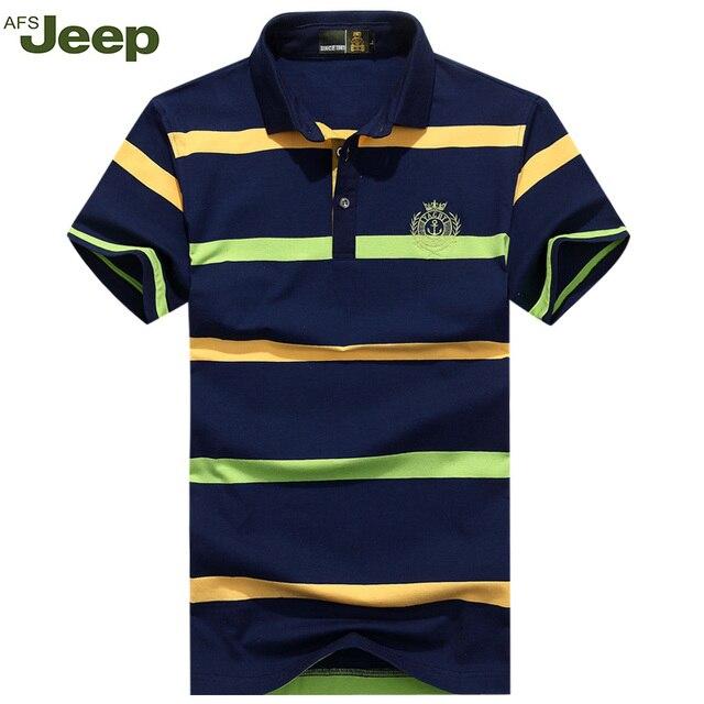 2016 La nueva Camisa de polo De Verano raya de la Manera de Los Hombres Camisa de polo de Los Hombres Ocasionales camisa de polo de Los Hombres XXXL 50