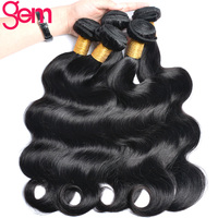Malaysian Body Wave Human Hair Bundles GEM Hair Extension Natural Color 1b Non Remy Hair Weaving Can Be Dyed 1pc/lot Can Buy 3pc