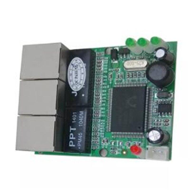 Image 2 - OEM переключатель mini 3 плата с портами Ethernet 10/100 Мбит/с rj45 станция сетевого коммутатора модуль печатной платы доска для системной интеграции-in Сетевые коммутаторы from Компьютер и офис