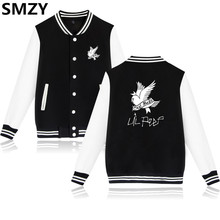 SMZY Lil Peep Baseball Jackets Men Hoodie Sweatshirt Winter Popular USA RAP Singer Sweatshirts Men Hip Hop Famous Fashion Jacket