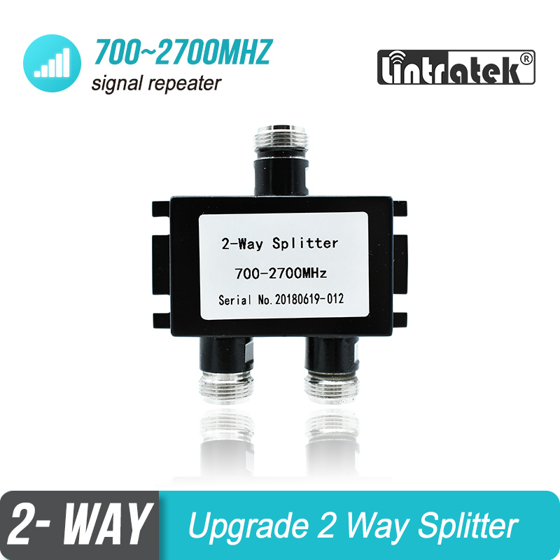 2 Way Divider Splitter 700mhz To 2700mhz For GSM WCDMA DCS LTE PCS AWS Mobile Phone Signal Booster Repeater Amplifier #19