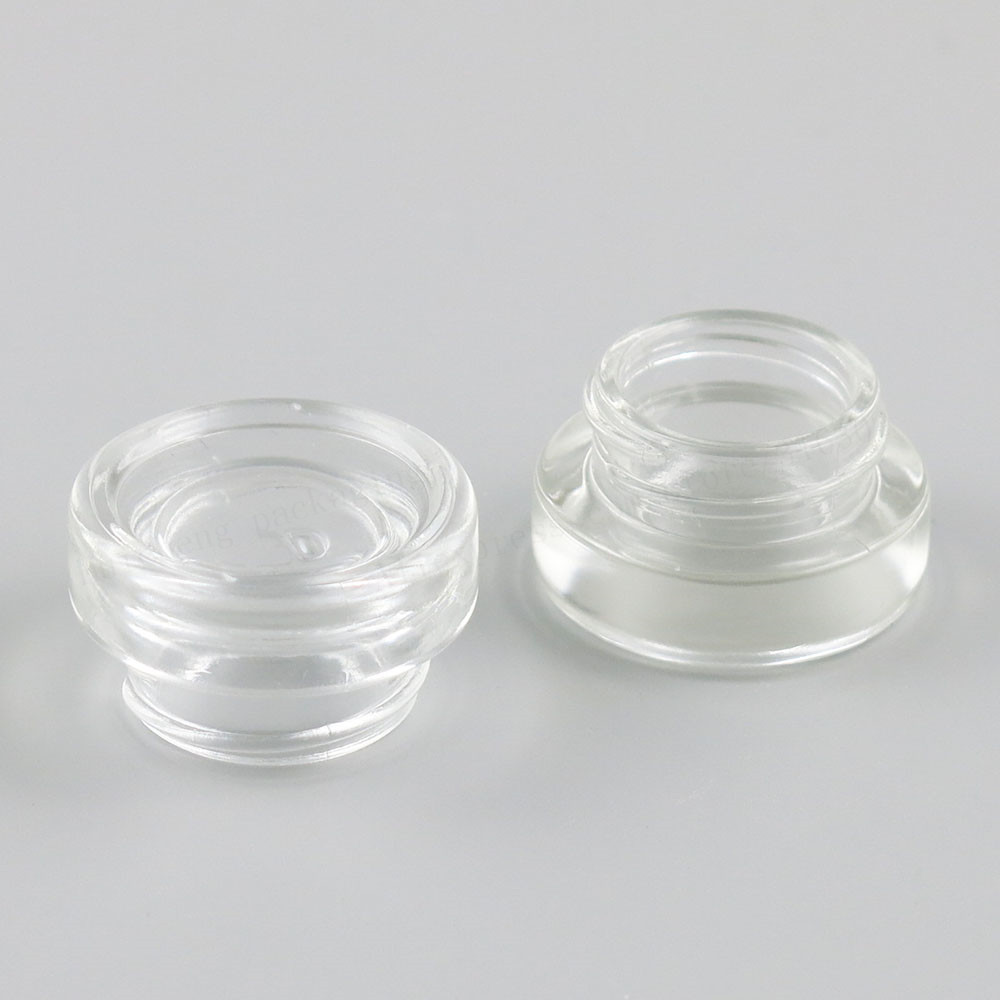 Купить с кэшбэком 30 X 3g Traval Small glass cream make up jar with aluminium  lids white pe pad 1/10oz  cosmetic container packaging glass jar