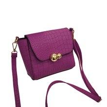 Vintage Crocodile PU Leather Women Bag Fashion Metal Logo Small Shoulder Bag Casual Messenger Bag