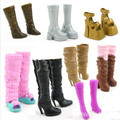Original High Simulation Fashionable Mixed-Style Boots For Barbie Doll Top grade Jackboots Dolls High-heel Boot Shoes Girls Gift
