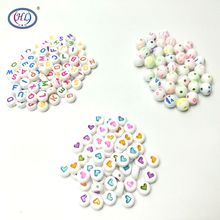 HL Quality Products 7MM 100PCS/lot Acrylic Beads Mix Colors DIY Scrapbooking For Making Bracelet Accessories