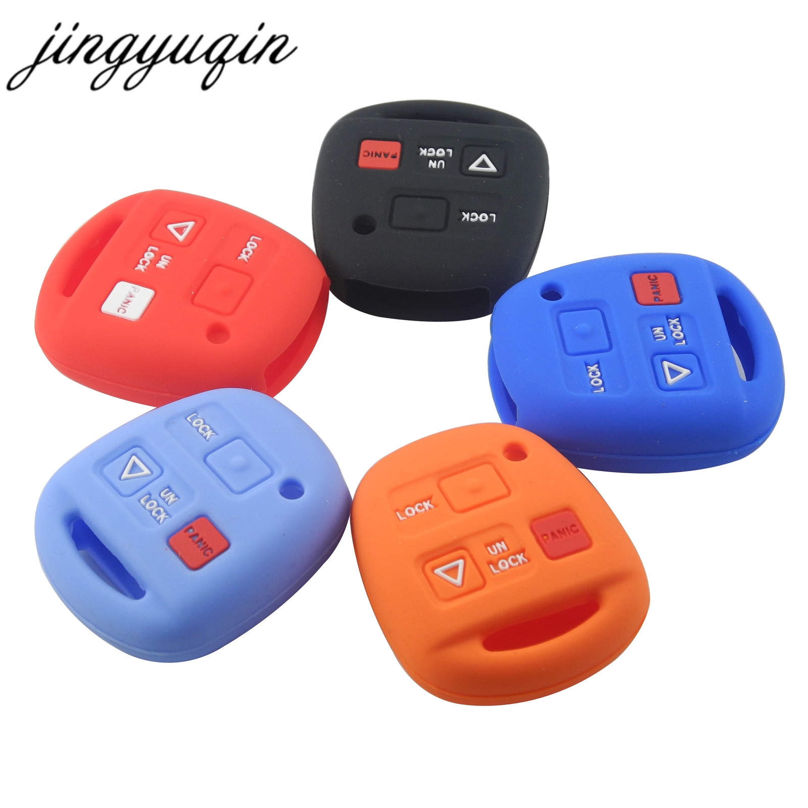 jingyuqin 15pcs Silicone Car <font><b>Key</b></font> Cover 3 Buttons Remote Car <font><b>Key</b></font> <font><b>Case</b></font> Fob For <font><b>Lexus</b></font> <font><b>RX300</b></font> ES300 image