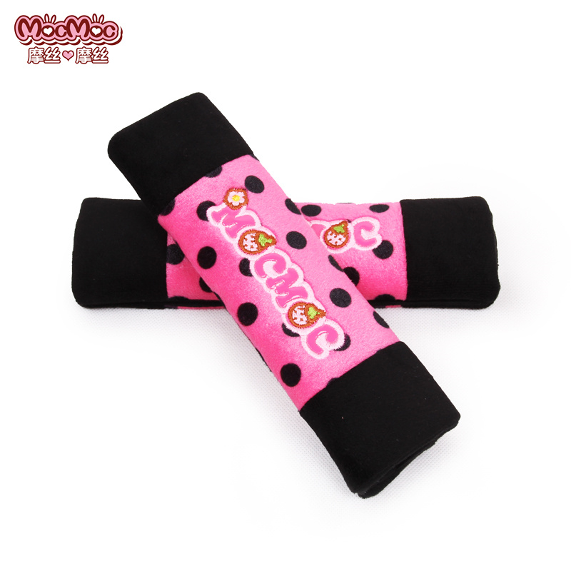 2pcs Car Seat Safety Belt Pad Cover for Women Girl Children Belt Cushion for Opel Car Decoration Set Pink accessories