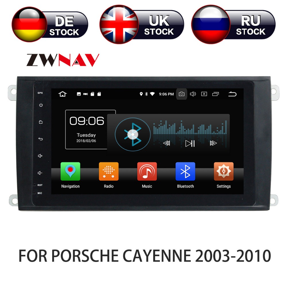 Android 8 dvd плеер автомобиля gps навигации для PORSCHE CAYENNE 2003 2010 Мультимедиа головного устройства Стерео магнитофон 2 din радио