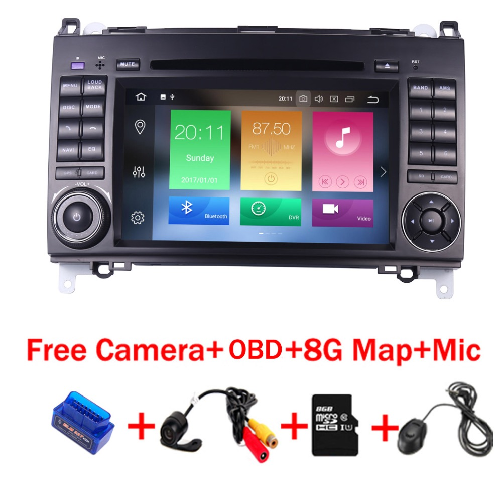 4g + 32g Android 8.1 radiofonico auto lettore multimediale per Mercedes/Benz Sprinter 2500 3000 Vito Viano w169 W245 W469 W906 Wifi 4g OBD