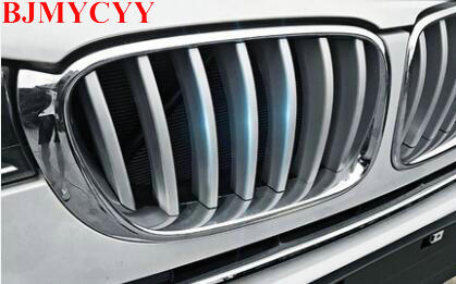 BJMYCYY 14pcs Front Grill Cover Trim ABS Chrome Sequins For BMW X3 f25 2011-2017 Car Accessories Newest for toyota corolla 2011 2012 2013 car protection abs chrome trim front racing up grid grill grille around frame lamp panel 1pcs
