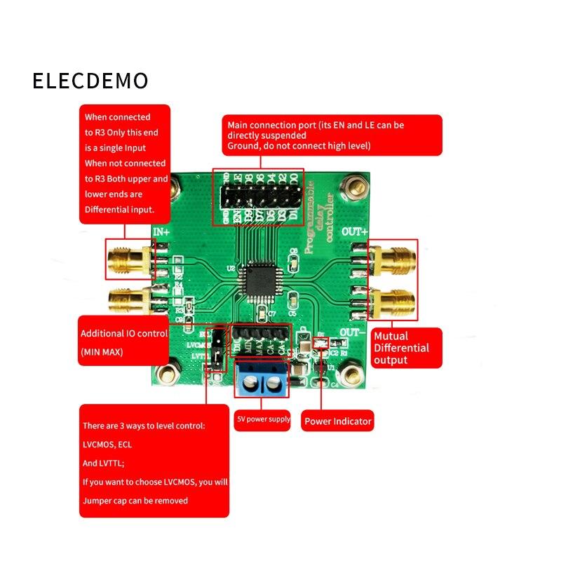 Image 4 - High precision pulse square wave signal delay circuit module ps level precision program control multi channel synchronization-in Demo Board Accessories from Computer & Office
