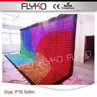 Easy installation factory price free shipping P100mm led video display curtain 17ft * 27ft