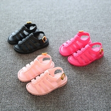 children Sandals Italy Rome Girls Sandals Children Mini Jelly Shoes Summer Sandals Boys Hollow Jelly Shoes Soft Bottom