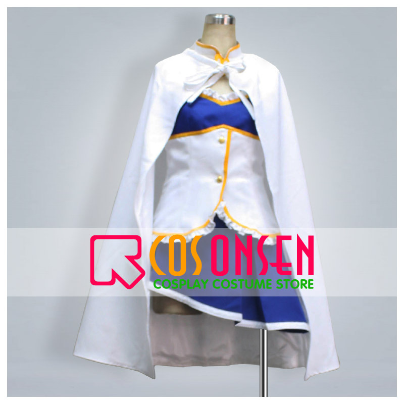COSPLAYONSEN Puella Magi Madoka Magica Miki Sayaka Cosplay Costume With Cloak Full Set All Size