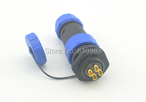 4 Pin 21mm Waterproof Dustproof Aviation Reverse male female Connector Plug and socket XLR Cable Connectors for 7-12MM cable jelen hp20 series 7 pin industrial connectors plug socket aviation connector power charger male and female connectors 7 pin