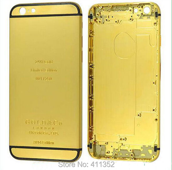 first rate b4ea9 d6fc2 US $67.09 |24 Karat Gold platinum for iPhone 6 platinum Housing Glass Shell  Back Frame For Iphone 6 4.7 inch-in Mobile Phone Housings from Cellphones  ...