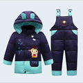 new baby winter down clothes little baby thicken outwear clothing baby sets for 1-3 years kids pants children coat causal style