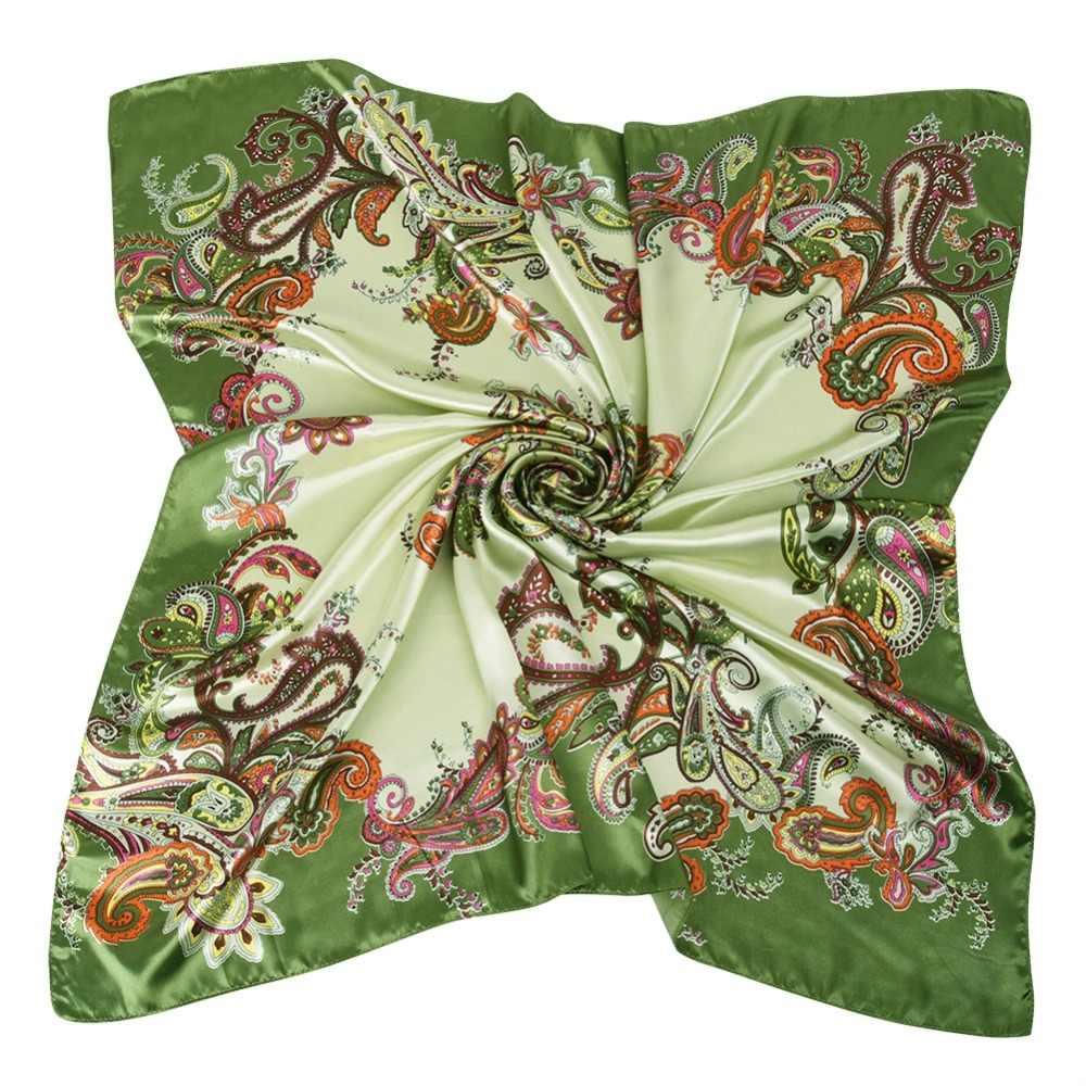 239aee9c2bac ... Silk Women Fashion Shawl Large Blanket Scarves Foulard Femme Hot Large  Satin Square Silk Feeling Hair ...