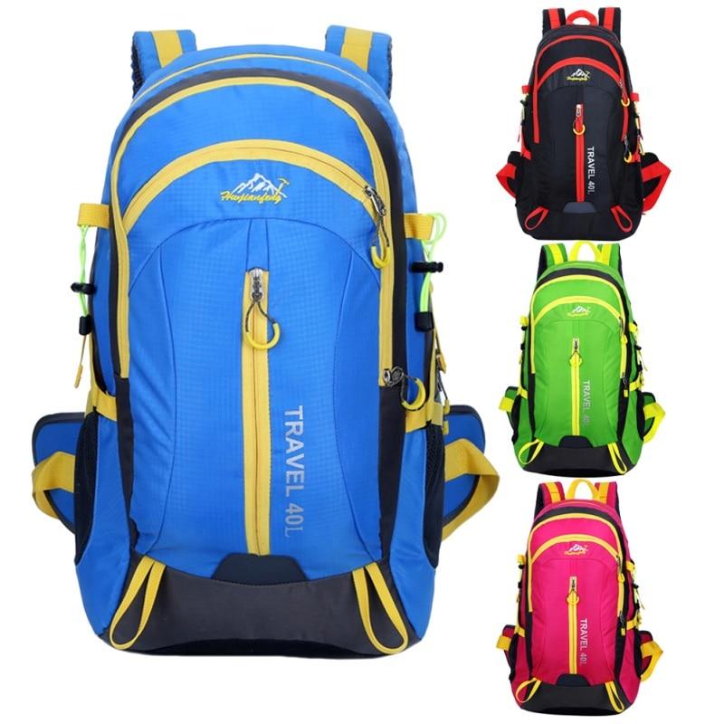Unisex Waterproof Outdoor Backpack Athletic Sport Bag Large Capacity Outdoor Camping Rucksack Hiking Skiing Traveling Backpack