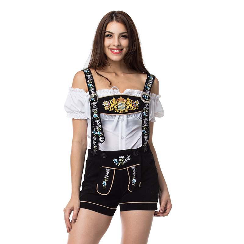 UTMEON Lady Lederhosen Beer Girl Costume Cosplay Sexy Miss Maid Oktoberfest Party Costume Halloween Costumes For Women