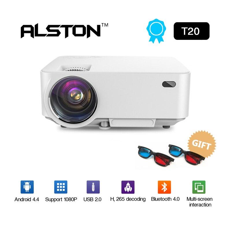 Alston Mini Projektor T20 4 K Hd Led Mini Projector Home Cinema Fortgeschrittene Technologie üBernehmen option T20b Smart Android Version