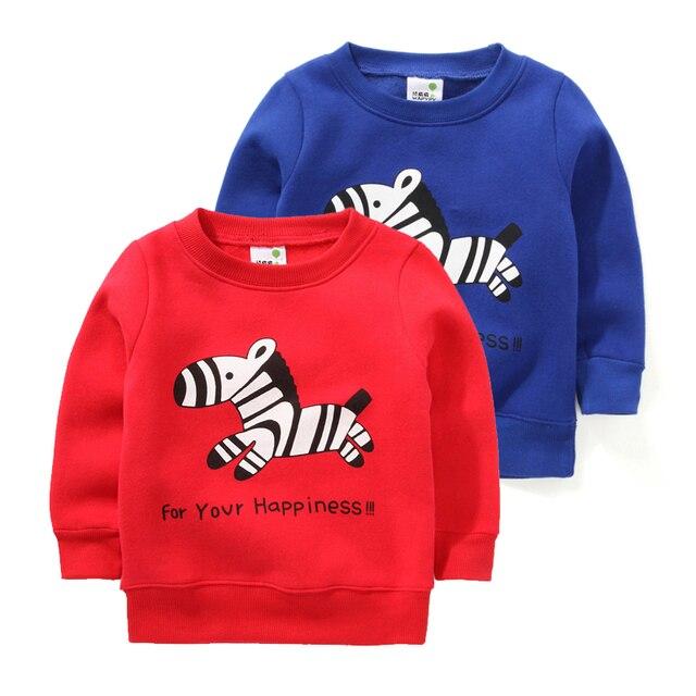 Ребенок толстовки мальчик балахон девочек лошадь мультфильм дети толстовки мальчики балахон девочек руно теплый свитер, пуловер