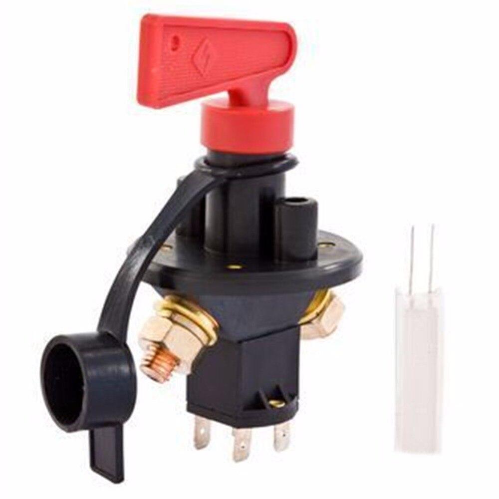 bilder für Universal 12/24 V 4 Terminals Batterie Isolator Master Power Isolator Ausgeschnitten/Off Kill Switch FIA Typ Kit Auto Rennen