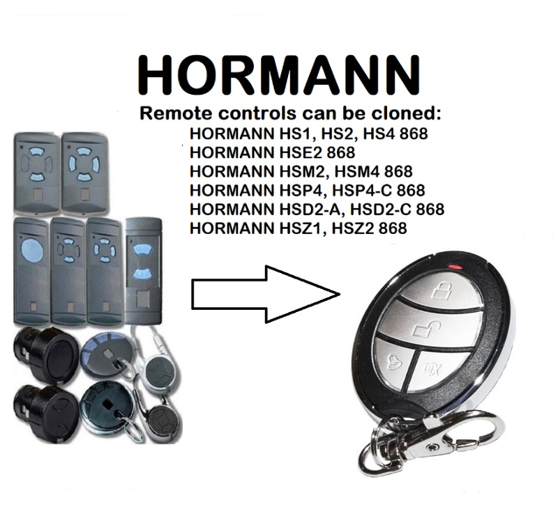 Door Remote Control Dashing Hormann Hsz2 Hsp4 Hsd2 Hse2 Hsm2 Hsm4 868mhz Universal Remote Control Replacement Transmitter Neither Too Hard Nor Too Soft