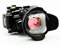 40M Underwater waterproof Camera Housing + fisheye wide angle lens for Sony A6000