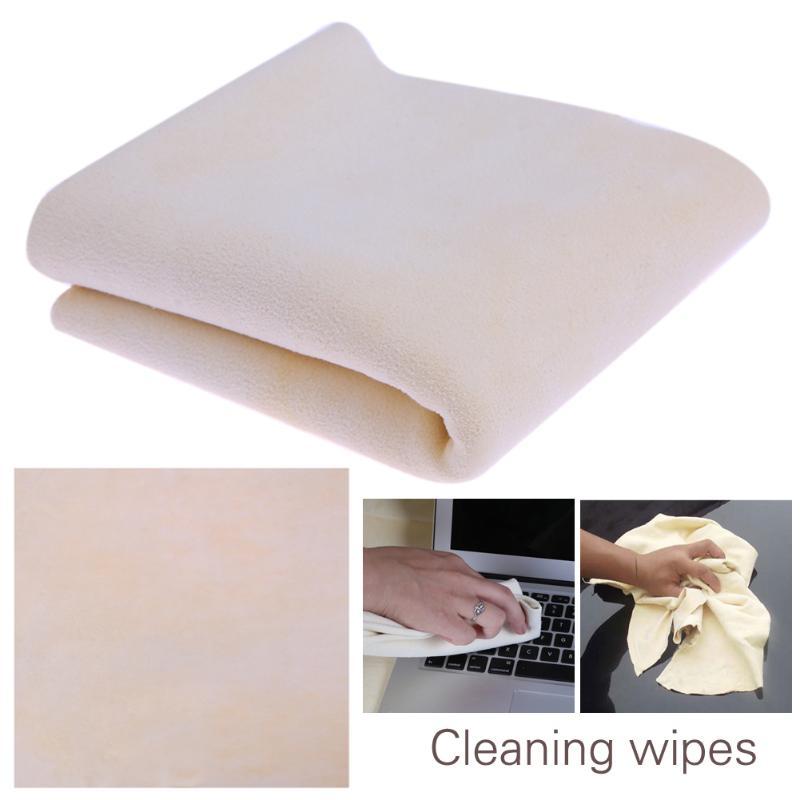 Kreativ 30*30 Cm Weichem Ziegen Haut Auto Washer Auto Windschutzscheibe Reiniger Tuch Handtuch Echtem Leder Notebook Handy Bildschirm Reinigung Wischen