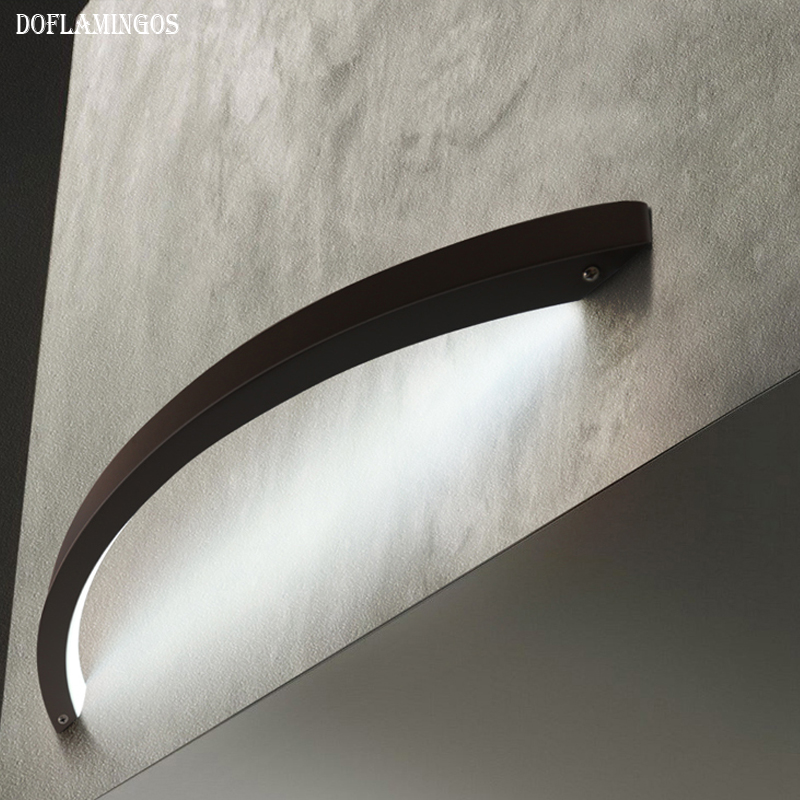 NEW Creative living room study led wall lamp Nordic design simple bedroom bedside lamp Modern personality mirror headlights modern creative iron wall lamp living room bedroom bedside wall lamp led lighting led lamp wholesale creative hotel