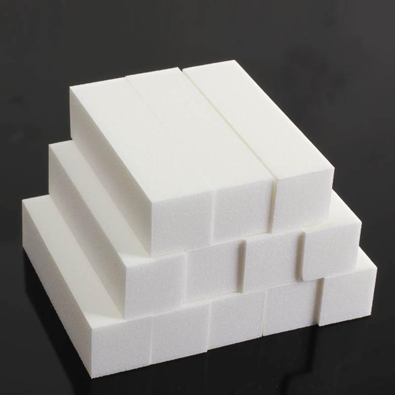 12 Pcs White Sanding Sponge Nail File Buffer Block For UV Gel Nail Polish DIY Nail Art Manicure PedicureNail Buffers NShopping