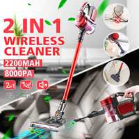 Wireless Cleaner 2 Level Adjust Hand Vacuum Cleaner Cyclone Dust Collector 2200mAh Lithium Battery Cordless Vacuum Cleaner Red