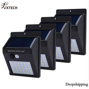 1-4 Pcs Solar Light PIR Motion Sensor Solar Garden Lamp Waterproof Outdoor Energy