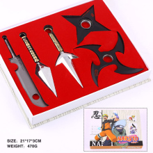Anime Naruto Kunai Knife Weapons 5pcs/set Cosplay Collection Toys