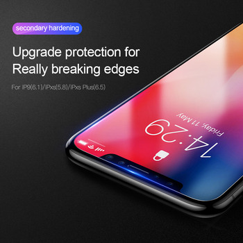 Baseus 0.15mm Super Thin Screen Protector For iPhone Xs Max Xs XR Glass Film 2018 Anti Blue Light Tempered Glass For iPhone X 1