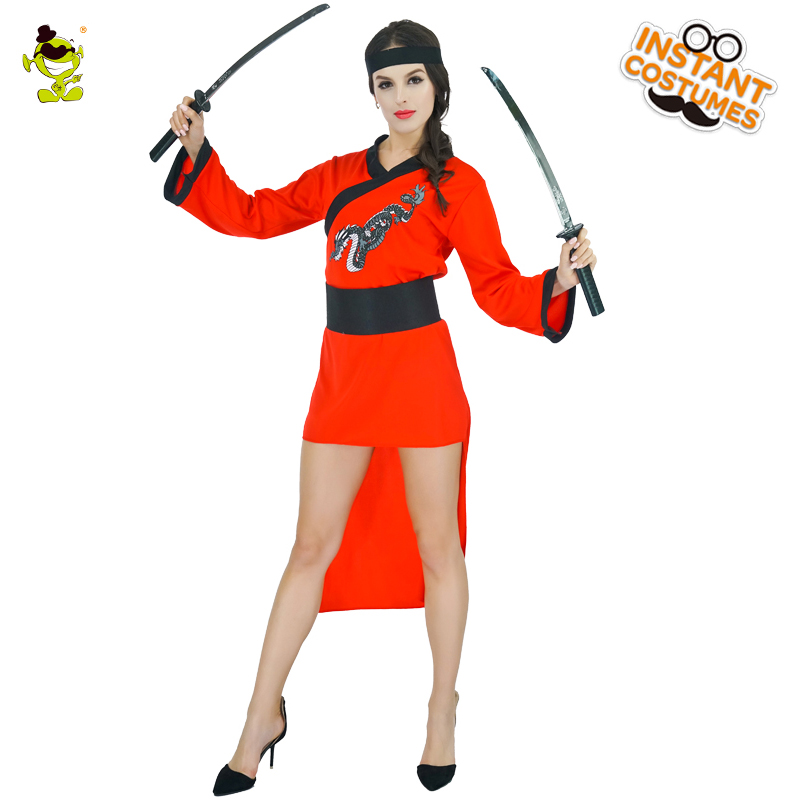 Adult Ninja Woman Costume Ancient Carnival Role Play Japanese Women Cool Outfits Traditional Embroidered Fancy Dress Costumes