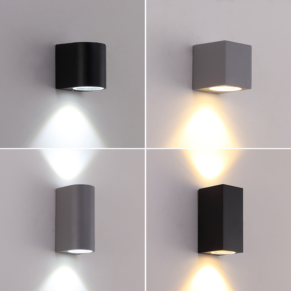 LED Aluminum Wall Lamp Porch Light Wall Sconce Square ...